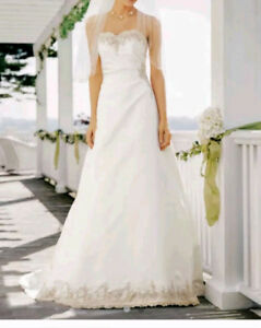 Wedding Dress - New - Size 14 with Corset Back