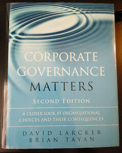 SMGT3309 - CORPORATE GOVERNANCE NAIT TEXTBOOK