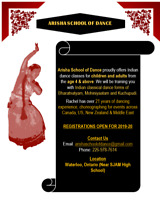 Indian Dance Lessons- Classical Forms- REGISTRATIONS OPEN NOW!