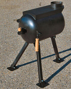 Wall Tent / Survival Wood Stove with folding Legs (ON)
