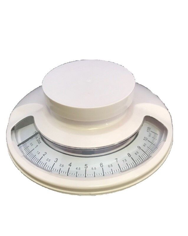 White Kitchen Scale-Farberware Removable Bowl Easy To Read Dial Dietary 11lb Max