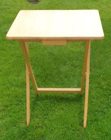 Rubberwood folding table