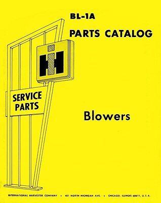 International Mccormick 45 47 56 Conveyor Hopper Blower Parts Catalog Manual