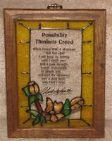 Stained Glass Wall Plaque & Crystal Cathedral Book