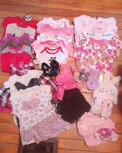0-6 month baby girl clothing lot