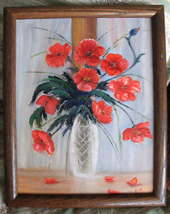 """Poppies in Vase"""