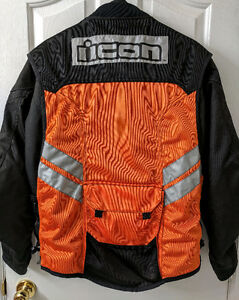Mens Motorcycle Jacket Tour Master Jett Series 3 Icon