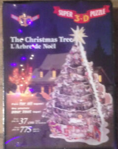 750 Piece 3D Christmas Tree Puzzle --SEALED