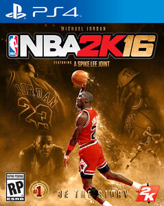 NBA 2K16 for PS4. (Michael Jordan Special Edition) by Spike Lee.