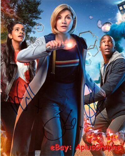 DOCTOR WHO.. Mandip Gill, Tosin Cole & Jodie Whittaker - SIGNED