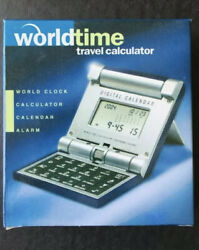 Collapsible World Time Travel Clock 16 Zones, Alarm, Calendar & Calculator