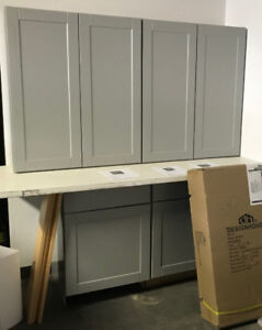 Kitchen Cabinets - NEW scratch & dent - Grey Shaker $500 for all