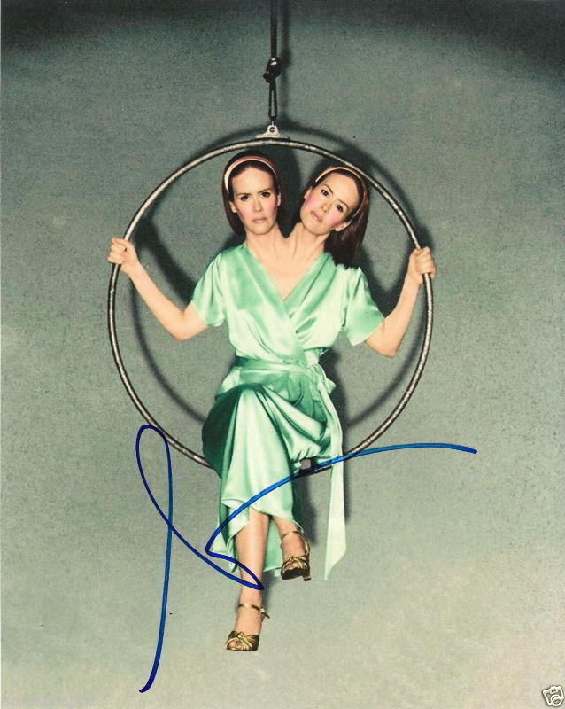 SARAH PAULSON.. American Horror Story: Freak Show's Double Delight - SIGNED