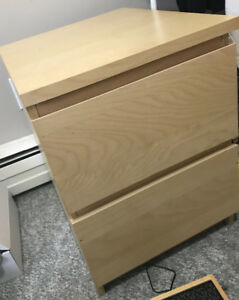 Brown nightstand with 2 drawers for $15