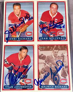 Habs HOF signed/autographed M & H Richard, Béliveau, Cournoyer