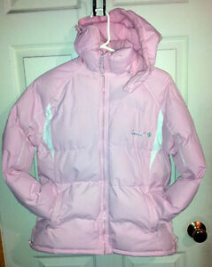 Girl's pink puffy winter jacket Size XL 14-16 hooded Brand new London Ontario image 2