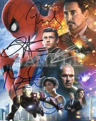 Spider-man Homecoming signed cast 8x10 Autograph Photo RP - Free Shipping!!