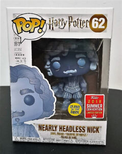 Funko Pop Harry Potter #62 Glow Nearly Headless Nick SDCC Excl