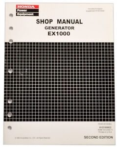 Honda Generator shop manual - EX1000 - EX800K