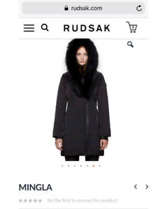 Mingla Black Fur Winter Jacket Rudsak
