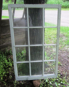 Twelve Pane Window, pair of Vintage 2 Pane Windows