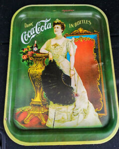 1968 Drink COCA COLA Metal Serving Tray Lillian Russell NORDICA