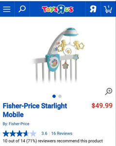 Fisher Price Starlight Crib Mobile