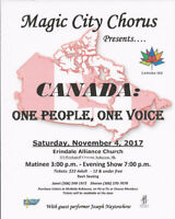 """""""Canada: One People, One Voice""""  on November 4"""