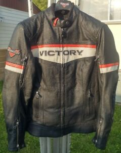 Leather Motorcycle Jacket - Victory
