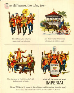1950 full-page magazine ad, Imperial Whiskey, Albert Dorne art