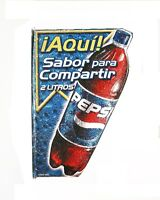 vintage double sided flange Pepsi sign