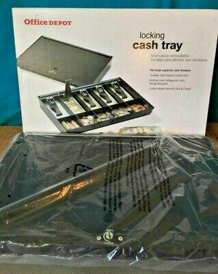 Office Depot Point Of Sale Cash Register Heavy Duty Key Lock Cash Drawer New