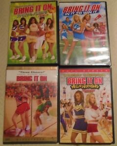 BRING IT ON  DVDS 20 DOLLARS FOR ALL 4.