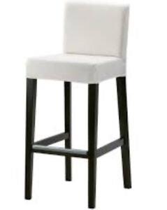 IKEA bar stools perfect for condo! 2 chairs white fabric