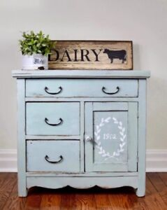 Antique hand painted farmhouse washstand