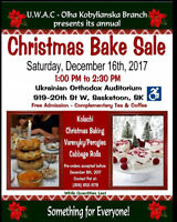 Ukrainian Christmas Bake Sale