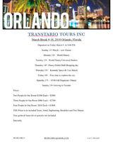 Toronto- Orlando Florida.