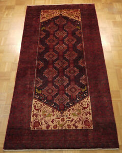18086-Balutch Hand-Knotted/Handmade Afghan Rug/Carpet Tribal/Nom
