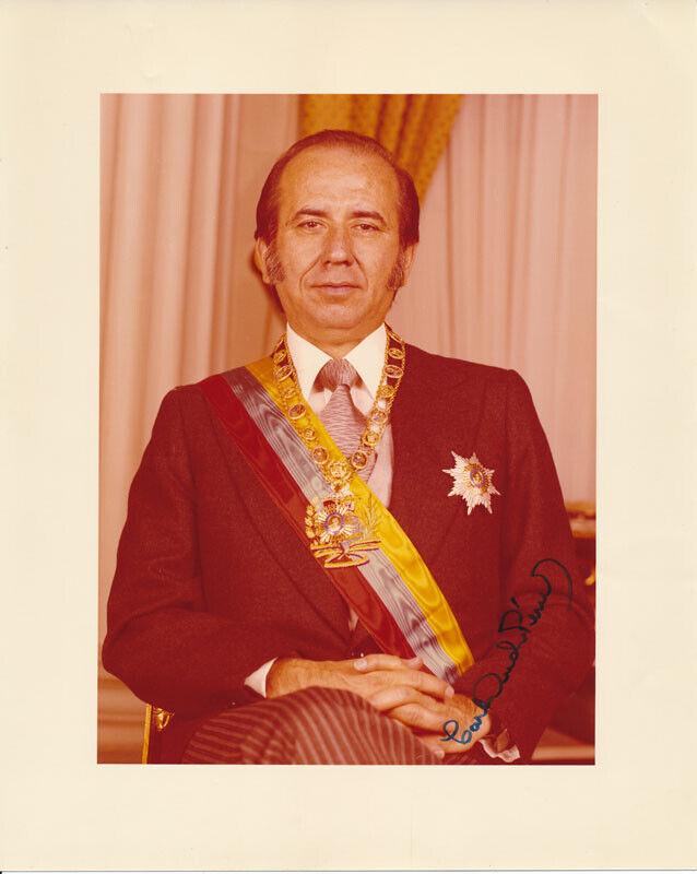 Carlos Andrés PEREZ / Color Photograph Signed