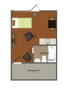 BACHELOR APARTMENT $550.00 INCLUSIVE, AVAILABLE AUG. 1st. 2018