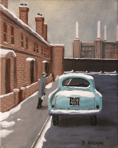 "Original Acrylic Painting ""Battersea Morning"""