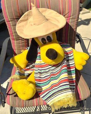 Disney Pluto Dog Plush LARGE with Sombrero and Poncho](Dog Sombrero And Poncho)