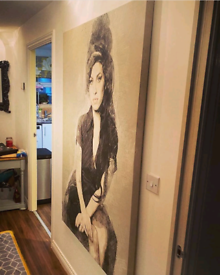One of a kind, 5 foot x 3 foot Amy Winehouse Canvas!!!