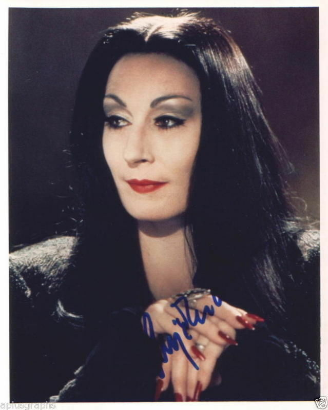 ANJELICA HUSTON.. The Addams Family - SIGNED