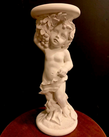 Plaster cherub cake Separator or plant stand
