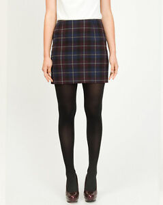 Le Chateau Woven Plaid Mini Skirt