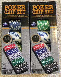 Poker chips — 2 sets of 100, brand new in box