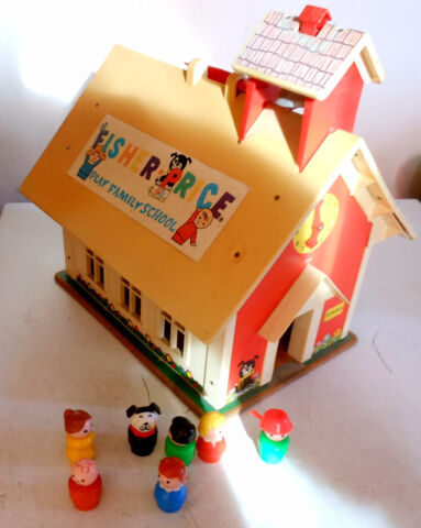 Vintage Fisher Price Toys Sets School, Sesame Street, Telephone