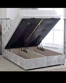 Double 4ft6 ottoman divan storage bed frame only