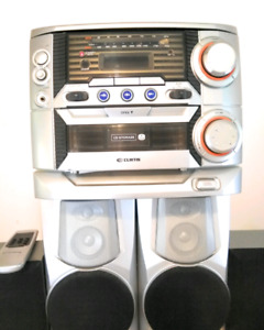CURTIS Mini bookshelf stereo system with 4 speakers
